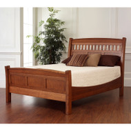 Amish Handcrafted Rake Bed With Low Footboard
