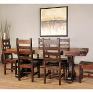 Amish Handcrafted Rustic Carlisle Dining Table
