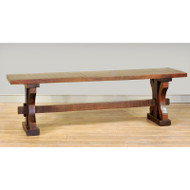 Amish Handcrafted Rustic Carlisle Bench