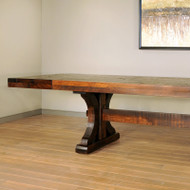 Amish Handcrafted Rustic Carlisle Table With Leaves