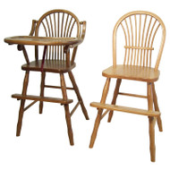 Amish Handcrafted 85 Sheaf High Chair and 83 Sheaf Youth Chair