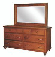Amish Handcrafted #912 Duchess Dresser With #949 Mirror
