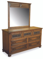 Amish Handcrafted Canyon Creek #1330 Dresser With #1343 Beveled Mirror