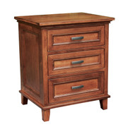Amish Handcrafted #621 Brooklyn Three Drawer Nightstand