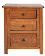 Amish Handcrafted Cornwell #2 Three Drawer Nightstand