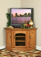 Amish Handcrafted Traditional Corner TV Stands