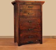 Amish Hand Crafted Rustic Carlisle 5 Drawer Hiboy