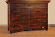 Amish Handcrafted Rustic Carlisle 9 Drawer Dresser
