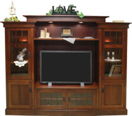 Amish Handcrafted Rockford Bridge Style Entertainment Center