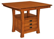 Amish Handcrafted Arts & Crafts Cabinet Table