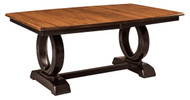 Amish Handcrafted Saratoga Trestle Dining Table