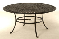 "Hanamint Bella 60"" Round Inlaid Lazy Susan Table | Hanamint"