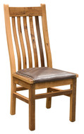 Amish Handcrafted Barnwood Mission Side Chair