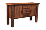 Amish Handcrafted Barnwood Almanzo Buffet With Mission Doors