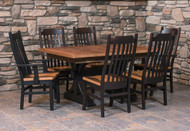 Amish Handcrafted Barnwood Croft Table & Barnwood Mission Chairs