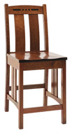 Amish Handcrafted Colebrook Bar Chair