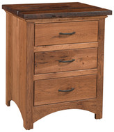 Amish Handcrafted Lewiston 3 Drawer Nightstand