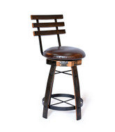 swivel stool with cushion seat