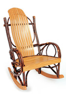 Hickory Rocker shown in extra wide