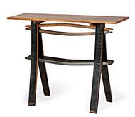 Rustic Barrel Sofa Table