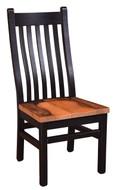 Black Barnwood Mission Side Chair