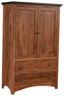 Amish Handcrafted Lewiston Armoire with Two Shelves