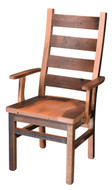 Barnwood Ladderback Arm Chair