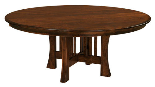amish handcrafted arts and crafts round table southern outdoor rh southernoutdoorfurniture com