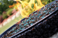 Breeze fire pit close up