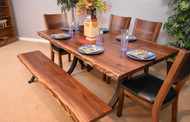 Amish Handcrafted Live Edge Walnut Dining