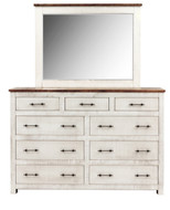 Amish Handcrafted Lincoln Barnwood Dresser