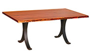 Amish Handcrafted Live Edge Walnut Dining Table