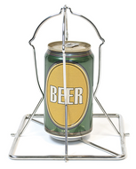 Folding Beer Can Stainless Steel Chicken Roaster