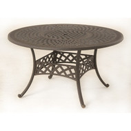 "Hanamint Berkshire 54"" Round Inlaid Lazy Susan Table"