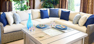 CANA  Outdoor Wicker Cushion Sectional