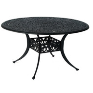 """Hanamint Chateau 54"""" Round Inlaid Lazy Susan Table"""