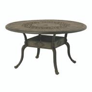"Hanamint St Moritz 54"" Round Inlaid Lazy Susan Table"