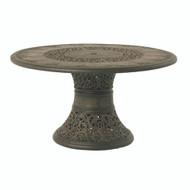 "Hanamint St Moritz 54"" Round Pedestal Inlaid Lazy Susan Table"