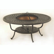 "Hanamint Berkshire 48"" Round Fire Pit Table"
