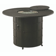 """Hanamint Newport 54"""" Round Counter Height Enclosed Fire Pit"""