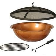 Hanamint Copper Painted Steel Bowl & Accessories