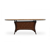 """LLoyd Flanders Grand Traverse 84"""" Oval Umbrella Table with Mosaic Top"""