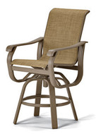 Villa Sling Balcony Height Swivel Arm Chair