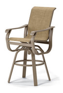 Villa Sling Bar Height Swivel Arm Chair