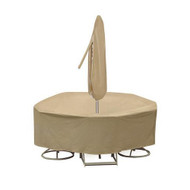 Adco Round Table and High Back Chair Cover with Umbrella Hole
