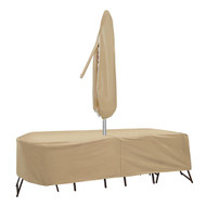 Adco Oval Table and High Back Chair Cover