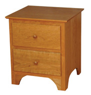 Amish Handcrafted Shaker 2-Drawer Nightstand