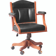Amish Handcrafted Lowback Desk Chair