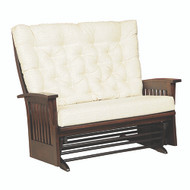 Amish Handcrafted Deluxe Mission Loveseat Glider