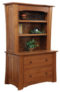 Amish Handcrafted Jamestown Lateral File & Bookshelf